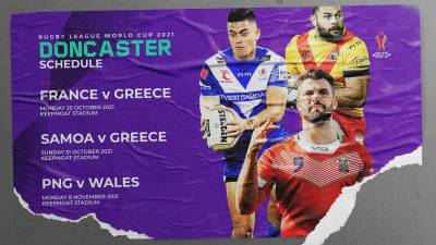 DONCASTER'S RLWC2021 FIXTURES ANNOUNCED
