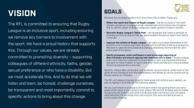 RFL accelerates sport-wide commitment to Inclusion, Diversity and Anti-Discrimination